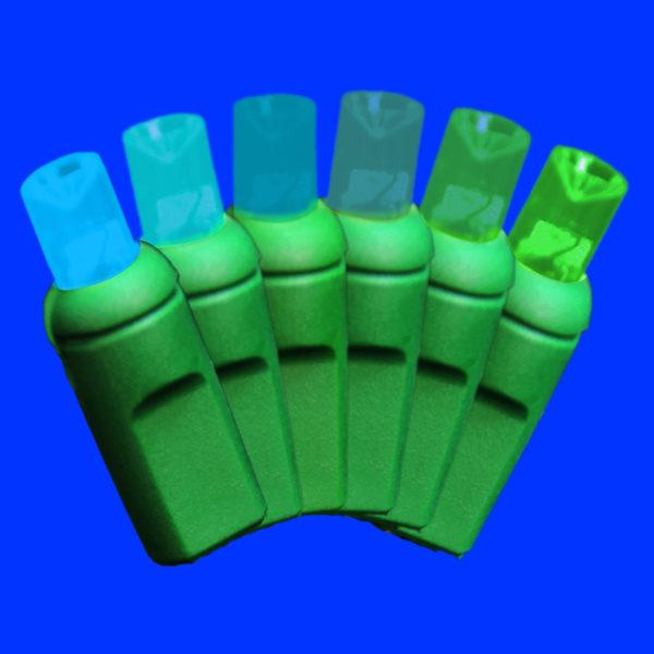 Blue to green 5mm colorwave light string