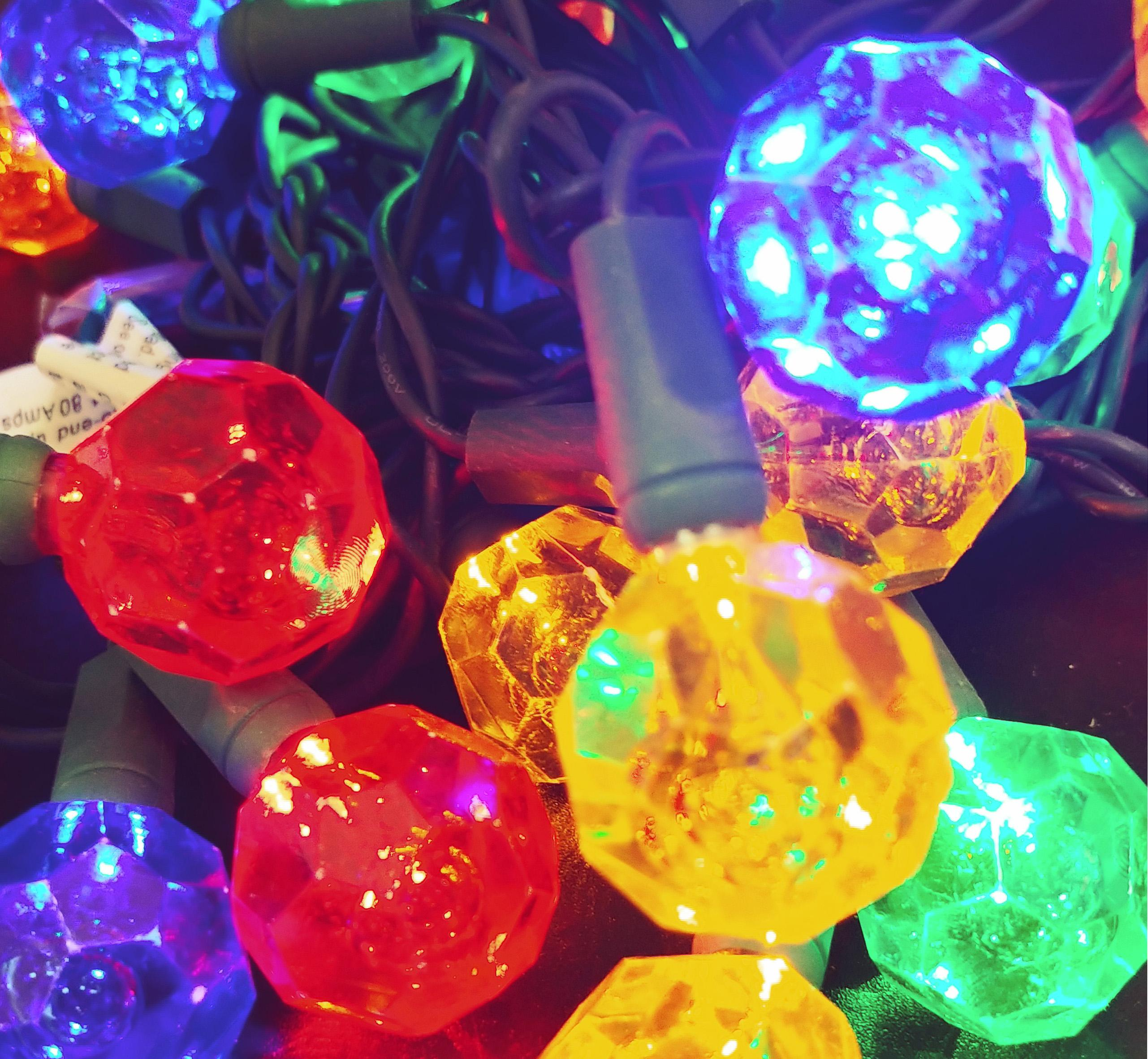 JINLE Solar Outdoor bubble Crystal Ball String Lights 4m ...   Crystal Light Show String