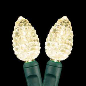 Warm white pinecone-shape LED light string
