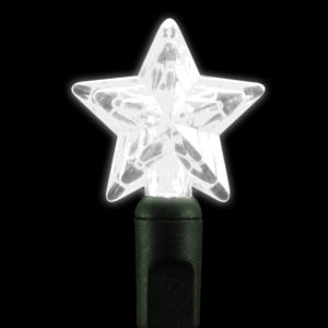 Pure white star-shaped LED light string