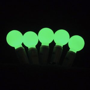 Green G20 LED glow light string