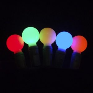 Multi-colored G20 LED glow light string