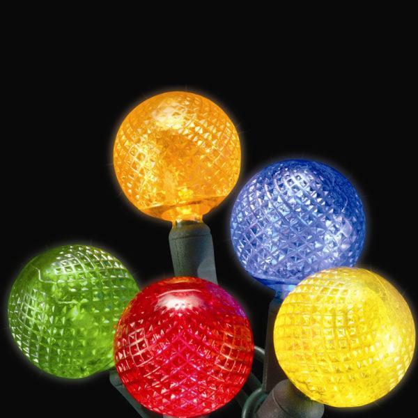 Multi-colored G25 LED light string