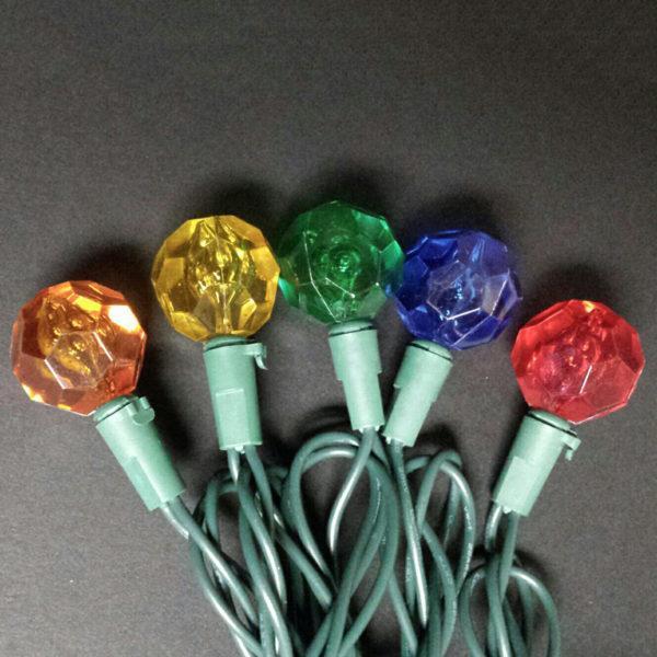 Multi-colored crystal G25 LED light string