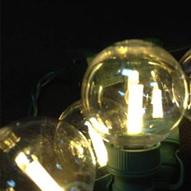 Warm white G40 LED globe light string