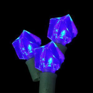 Blue rock-shaped LED light string