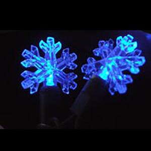 Blue snowflake-shaped LED light string