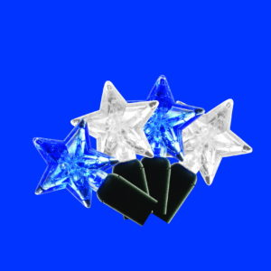 Blue and pure white star-shaped LED light string