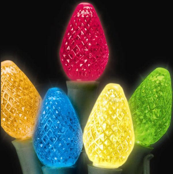 Multi-colored C7 LED light string