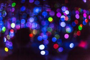 multicolor lights creating bokeh effect