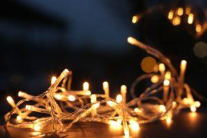 warm white led light string